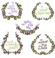 set of hand-drawn calligraphic vintage wreathes vector image