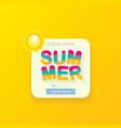 special offer summer label design template vector image