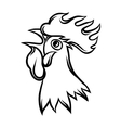 Hand drawn of black rooster on white vector image vector image