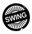 Famous dance style Swing stamp vector image