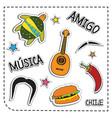 mexican party sticker applique mexico style vector image