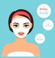 peeling mask for treating skin vector image