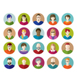 Set of People Flat icons vector image