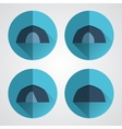Set of tourist tents Camping equipment vector image