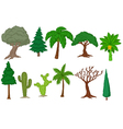 Various tree collection vector image