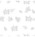black and white flowers on white background vector image