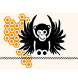 monkey in comic style vector image vector image