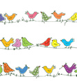 Funny birds seamless pattern - bright vector image vector image