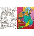Colouring Book Of Easten Princess vector image
