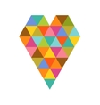 Geometric colorful heart for Valentines day vector image