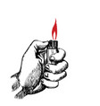 hand with lighter vector image