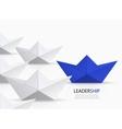 modern concept leadership background vector image