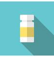 Plastic medicine bottle vector image