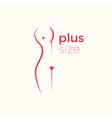 Plus size woman logo concept vector image