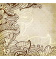 Abstract vintage floral background vector image