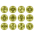 Medical buttons vector image