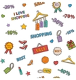 Shopping icon pattern vector image vector image