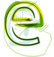 Green letter E vector image vector image