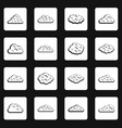clouds icons set squares vector image