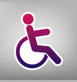 Disabled sign purple vector image