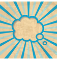 retro background with a cloud vector image vector image