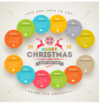 Calendar 2015 with christmas type design vector image