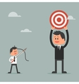 Man prepare shooting arrow to target Goal vector image vector image