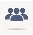 User Profile Group Set Icon Symbol Flat icon One vector image