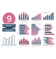 Graphs and Charts Templates vector image vector image
