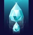 diamond in polygonal vector image