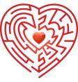 maze heart vector image