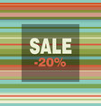 sale banner with colorful stripes vector image