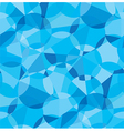 Seamless blue color geometric pattern vector image