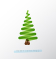 Simple christmas tree made from one line vector image