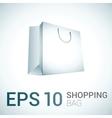White shopping bag vector image