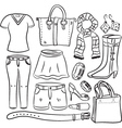 Shopping item vector image