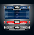 box scoreboard sport game vector image