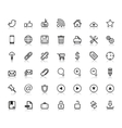 Social Web Icons vector image vector image