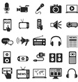 Media Icons Technology vector image