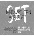 alphabet set handwritten vector image