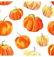 Watercolor halloween of pumpkins vector image
