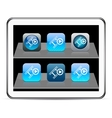 Film blue app icons vector image vector image