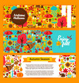 autumn horizontal banners vector image