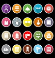 Dressing room icons with long shadow vector image