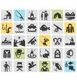 fishing angling logo design template vector image