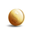 gold coin dollar vector image
