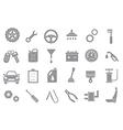 Mechanic gray icons set vector image