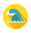 ocean wave icon summer vacation vector image