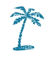 Palm grunge icon vector image