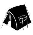 retro tent icon simple style vector image